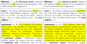 שינויים ב־DIEC, המילון התקני של קטלאנית, בין 2007 ל־2009
